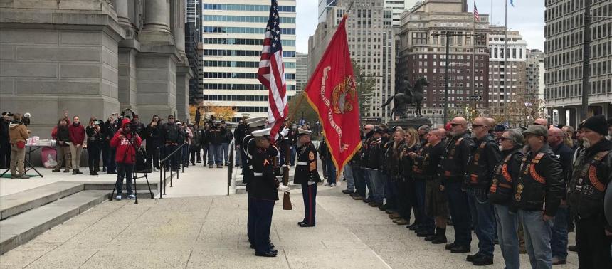 Marine Week kicks off with Corps flag raising at City Hall IMG 2031