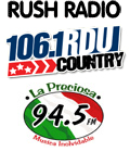 RushRadio 94.5 WGBT Greensboro Rush Radio 106.1 WRDU Raleigh Durham News Talk FM 600 WSJS 680 WPTF