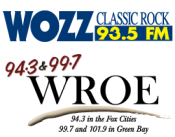 93 Rock On WOZZ 94.3 The Drive 99.7 WROE WRQE Appleton Green Bay Midwest Communications