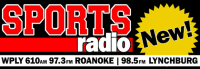 Sports Radio Roanoke Lynchburg 610 WPLY WVBE 97.3 98.5
