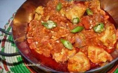 Balti Chicken with Bhinda