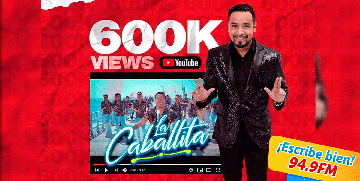 Radio Karibeña- 'La caballita' superó las 600 mil visualizaciones en YouTube