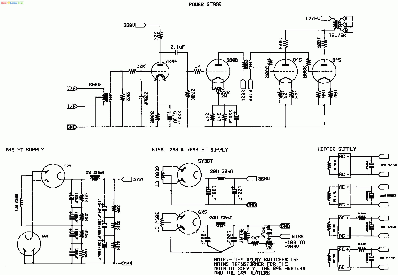 Однотактный трансформаторный усилитель на 845 (Audio Note