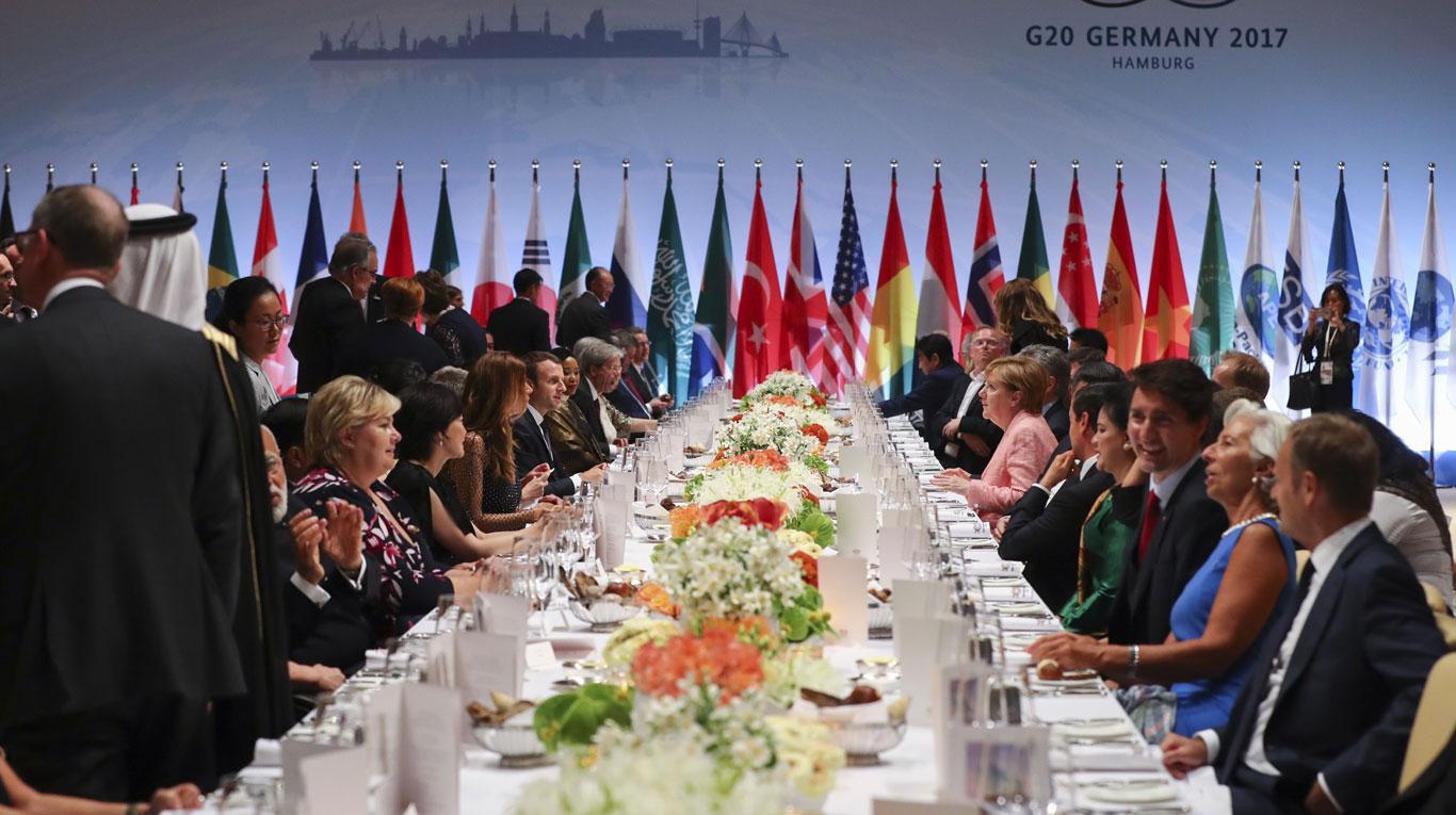 Los ecos de la cumbre G 20-1 de Hamburgo, en Nuestramérica - cena-de-gala-hamburgo-g-20
