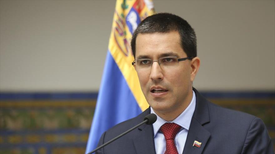 El canciller venezolano, Jorge Arreaza en un acto público en su país.