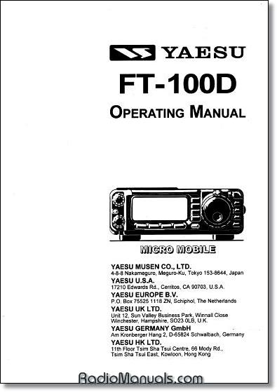 Yaesu Instruction Manuals and Service Manuals
