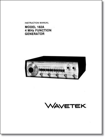 Wavetek Instruction Manuals and Service Manuals