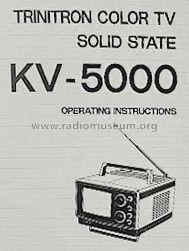 Trinitron Color TV KV-5000 Television Sony Corporation;