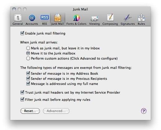 Lista de Apple Mail