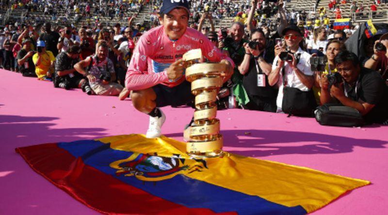 El ciclista ecuatoriano Richard Carapaz triunfa en el Giro de Italia 2019