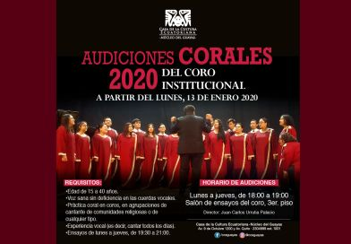 Audiciones corales 2020, Casa de la Cultura-Núcleo del Guayas