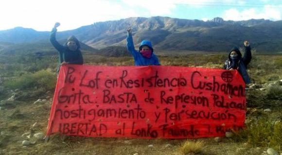 Precisamos la tierra para ser Mapuches