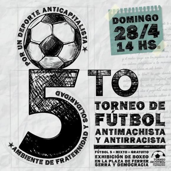 5to torneo antimachista y antirrascista