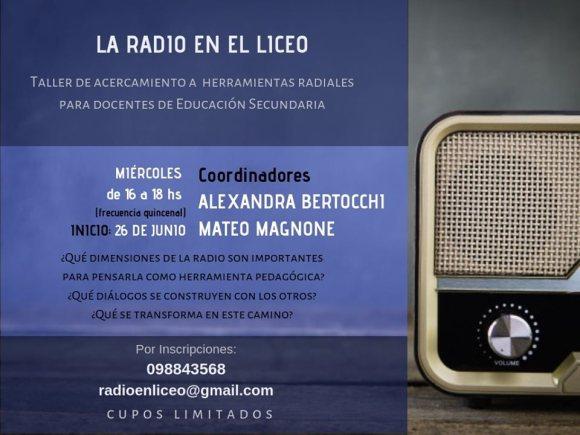 La radio en el liceo