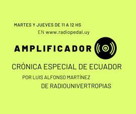 Cápsula informativa de Luis Alfonso Martínez, de Radio Univertropias (Colombia) sobre Ecuador
