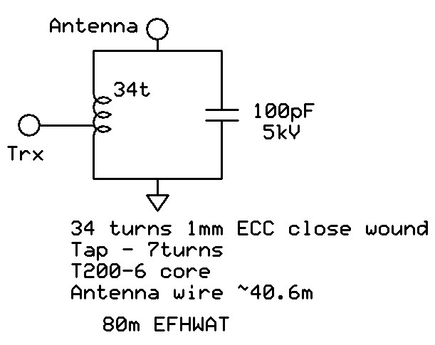 An End-Fed Wire Antenna for 80m.