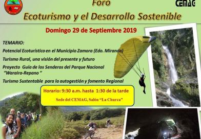 (CEMAG) Realizara el foro; «Ecoturismo y el Desarrollo Sostenible» (+exposicion)