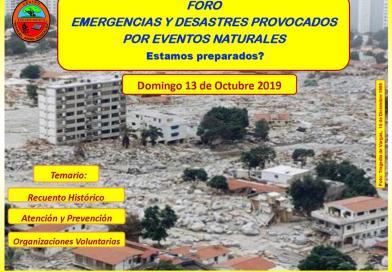"""CEMAG Presentara el Foro: """"Emergencias y desastres provocados por eventos naturales"""" ¿Estamos preparados?"""