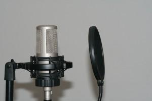 Microphone en studio