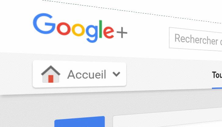 Page d'accueil de Google+