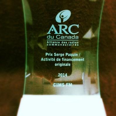 Prix Serge Paquin / Activité de financement originale à CIMS FM (Balmoral, N.-B.)