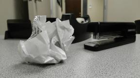 Feuille de papier chiffonnée