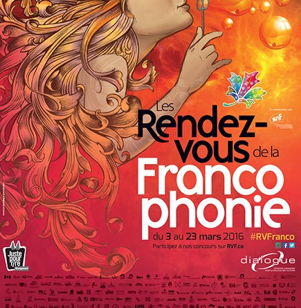 Affiche des Rendez-vous de la Francophonie 2016