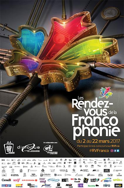 Affiche les Rendez-vous de la Francophonie 2017