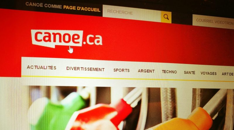 Photo : Simon Forgues / Page d'accueil de Canoe.ca)