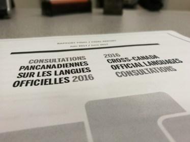Consultations pancanadiennes sur les langues officielles 2016