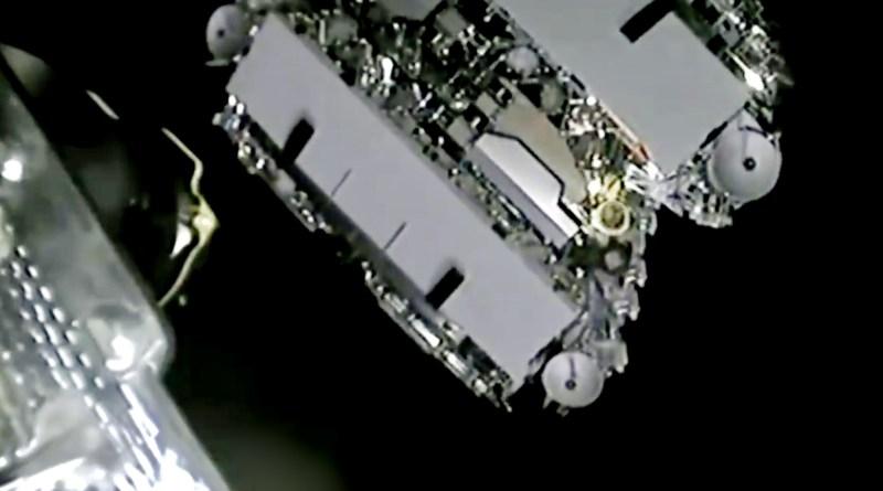 Déploiement de satellites de Starlink