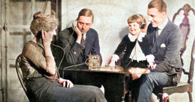 Publicité pour la radio à cristal (photo colorisée)