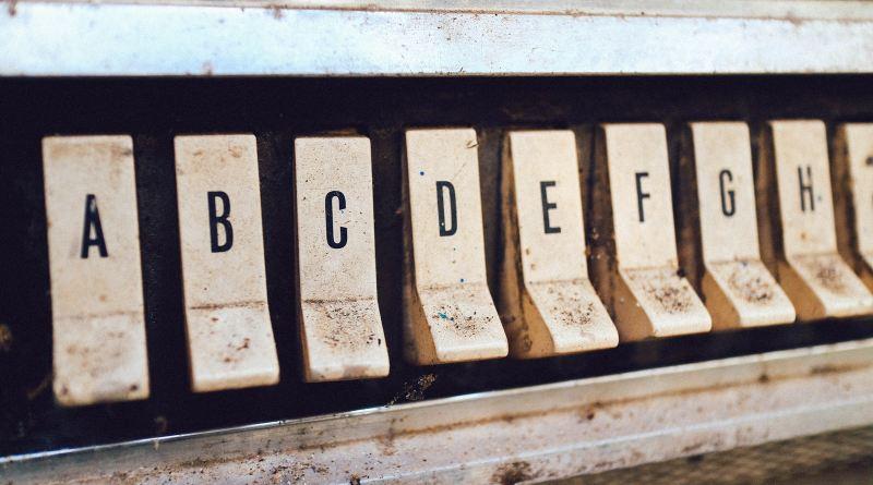 Les lettres sur un jukebox