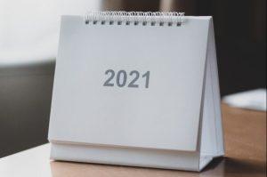 Un calendrier de l'année 2021
