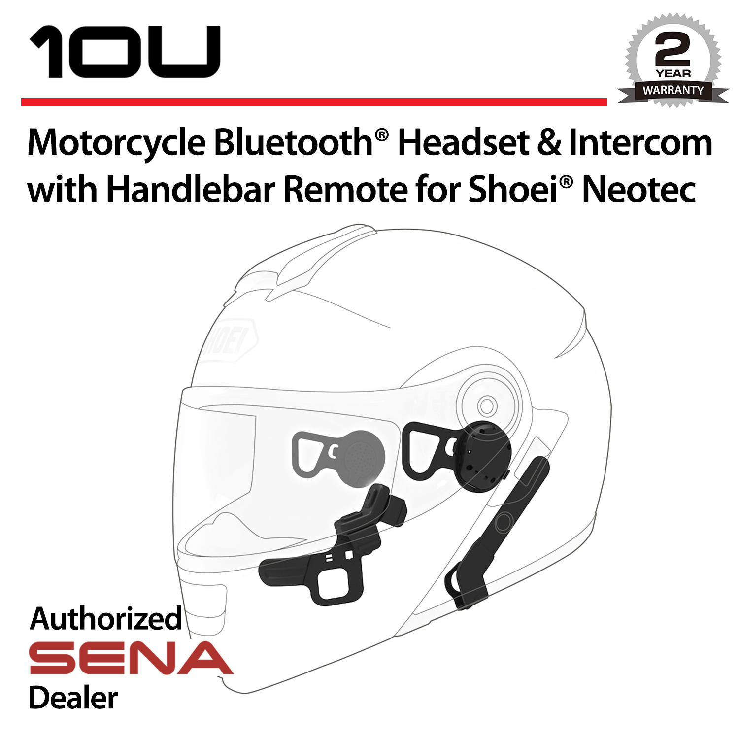 SENA 10U Bluetooth Headset & Intercom w/Handlebar Remote