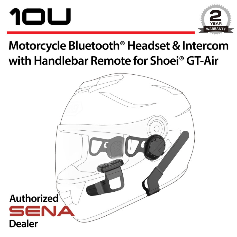 SENA 10U Bluetooth Headset & Intercom with Remote Control