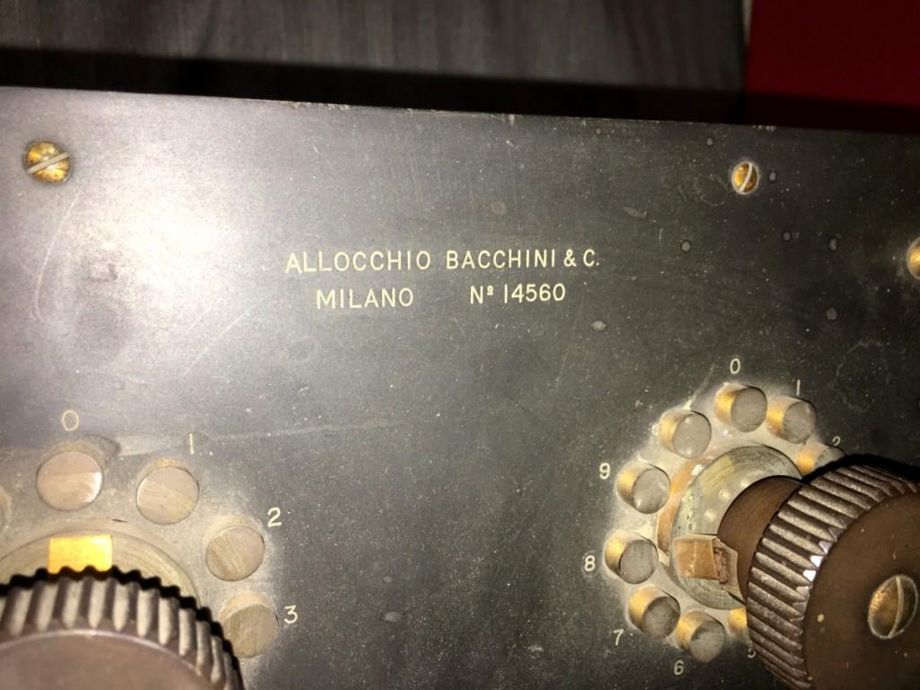 Z Allocchio Bacchini Anni 20 Strumento Scientifico