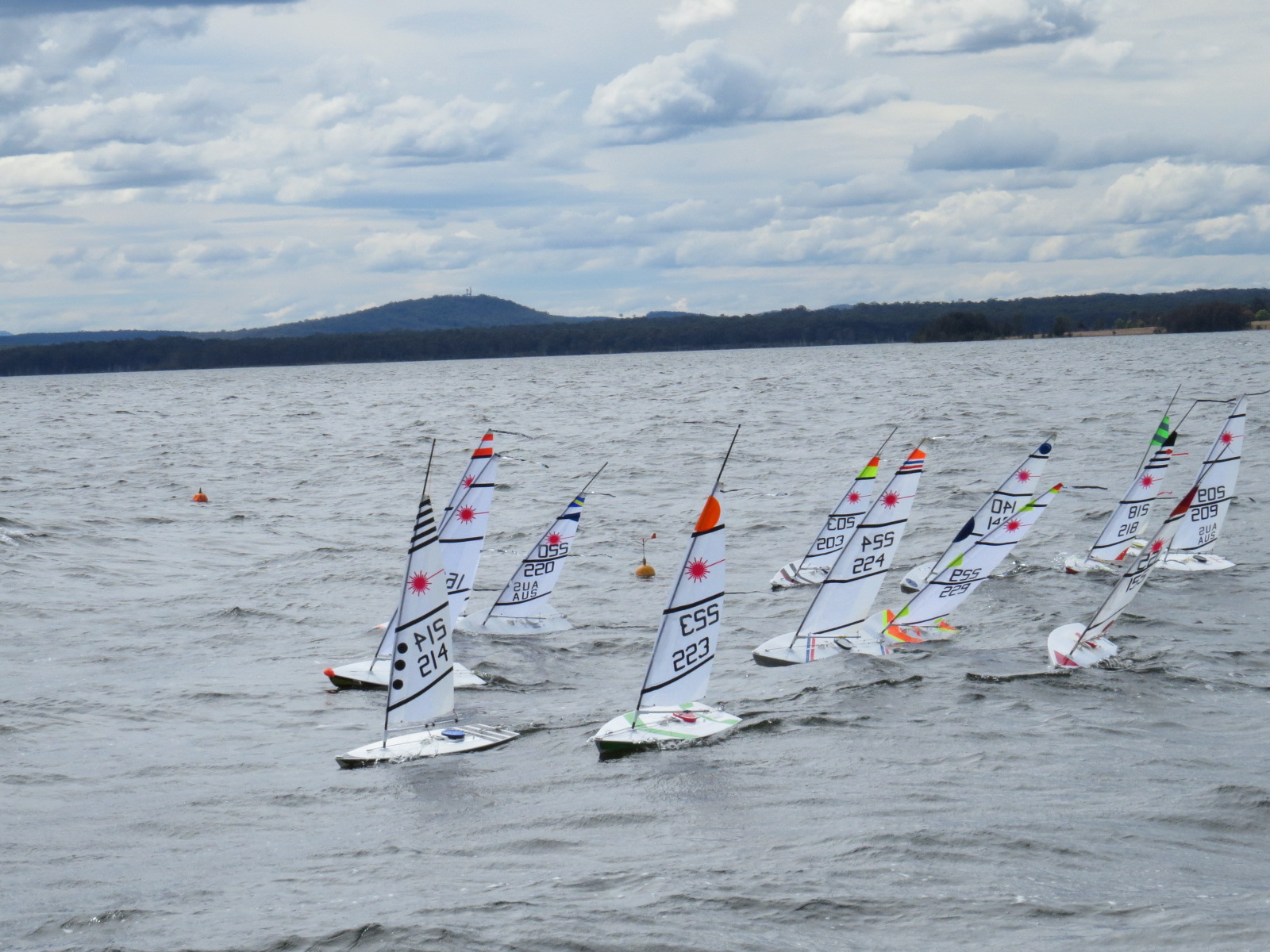 Eventful Day For The Northlakes Radio Sailing Club Laser
