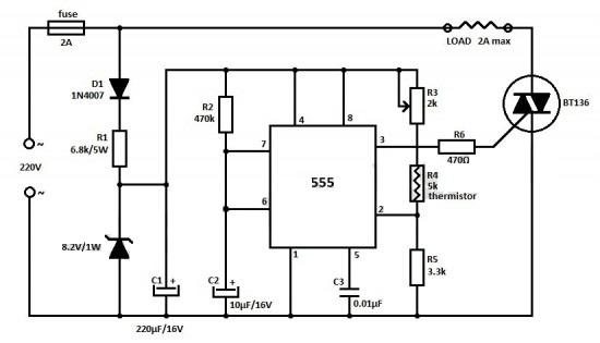 Регулятор температуры на ic 555