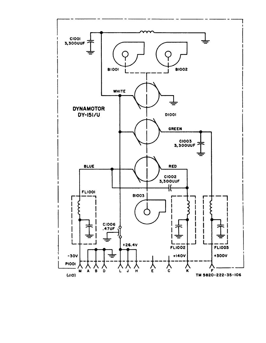 medium resolution of dynamotor dy 151 u schematic diagram