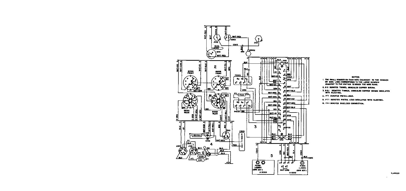 FO-2. R-442(*)/VRC front panel assembly A100 wiring diagram.