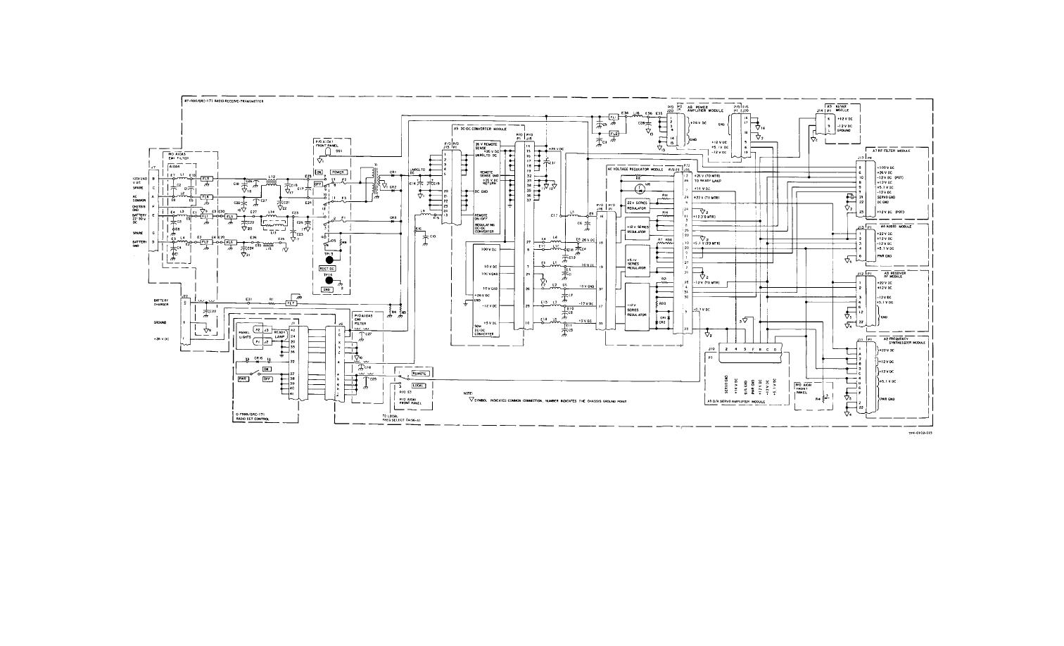 Figure Fo 14 Radio Set An Grc 171 Power Distribution Diagram