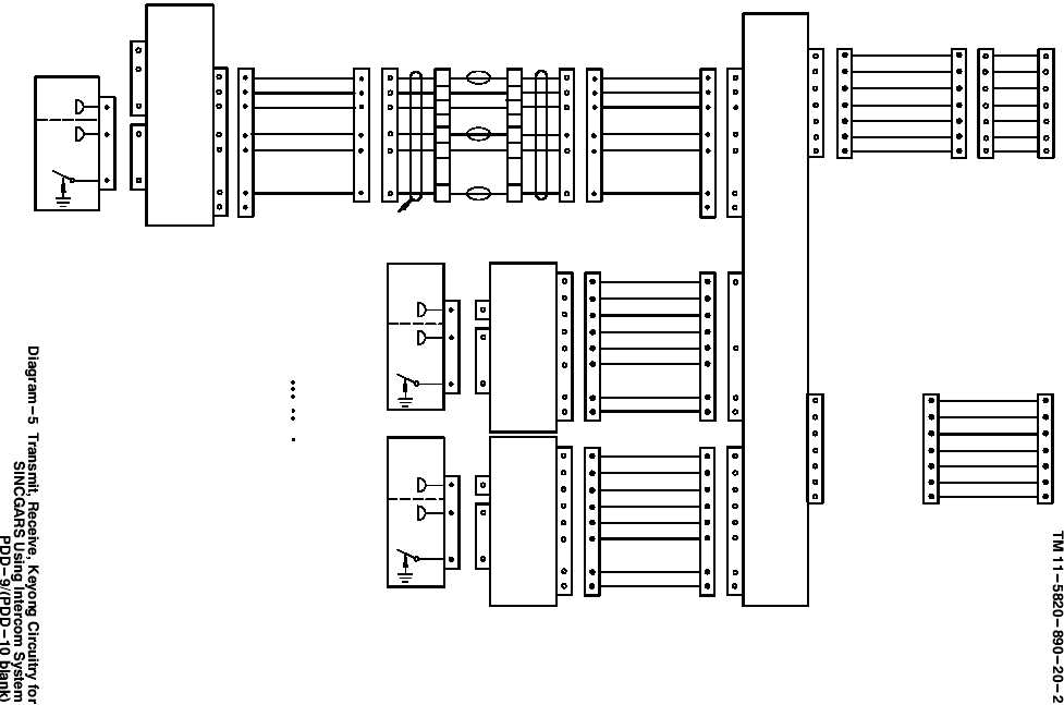 Diagram-5 Transmit, Receiver, Keyong Circuitry for