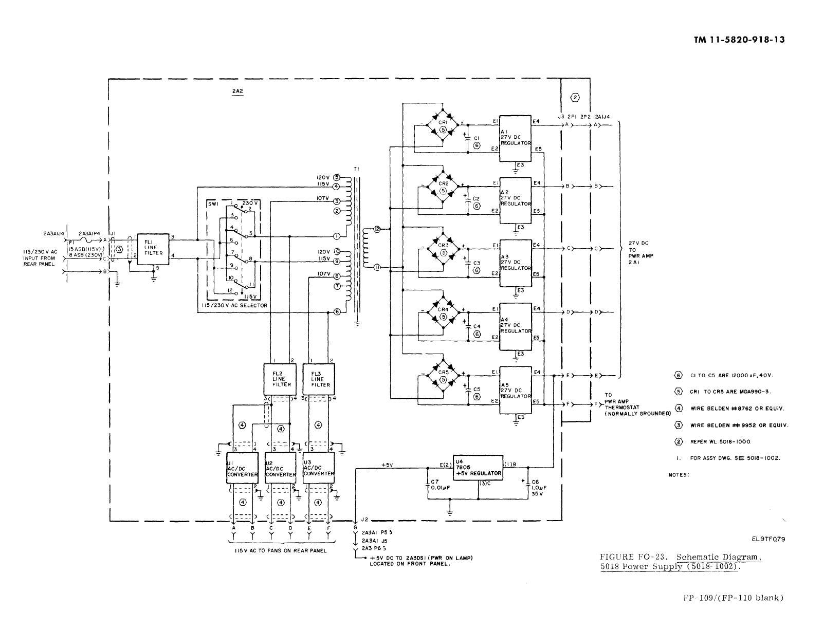 Figure Fo 23 Schematic Diagram Power Supply
