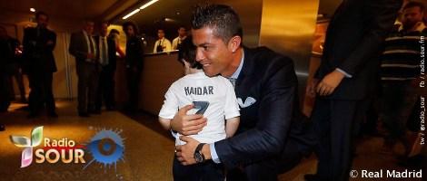 نجم ريال مدريد ،يلتقي الطفل حيدر مصطفى
