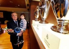 رئيس ريال مدريد فلورنتينو بيريث والطفل اللبناني حيدر مصطى