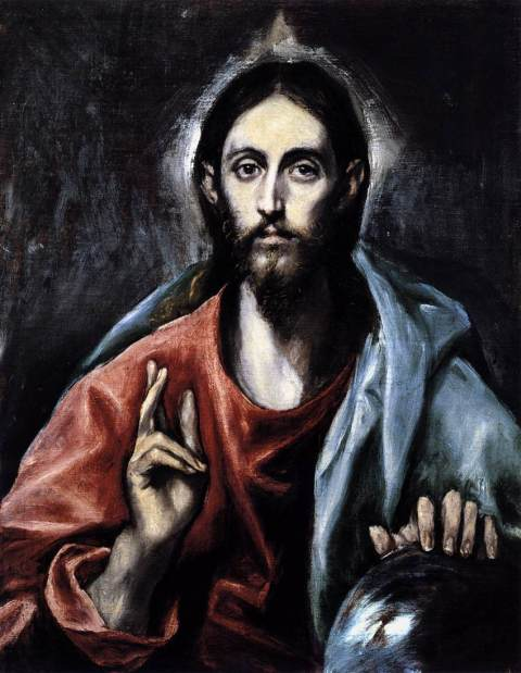 Christ as Saviour, El greco