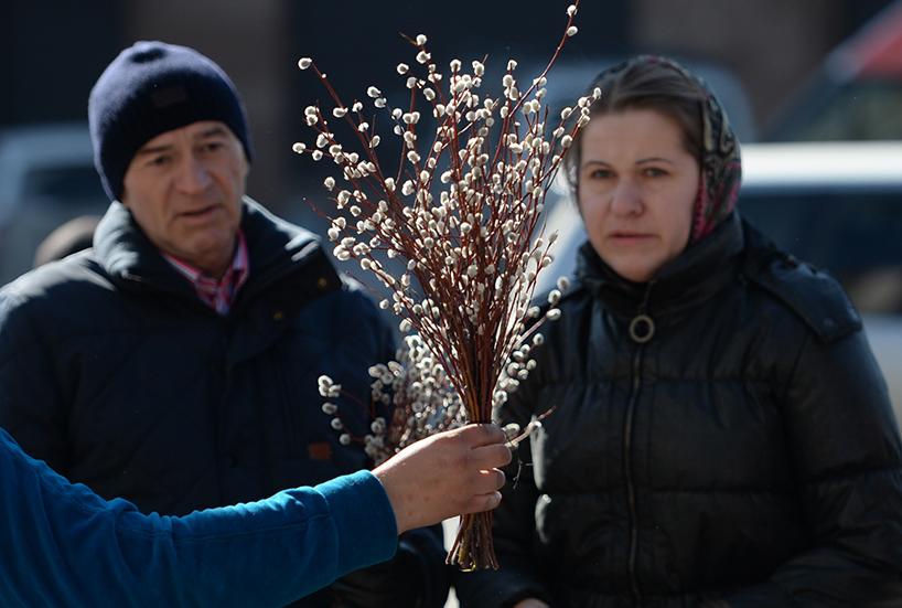 Вербное воскресенье в регионах России