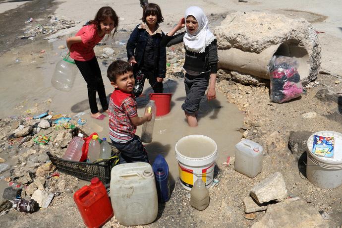 SYRIA-CONFLICT-ALEPPO-WATER