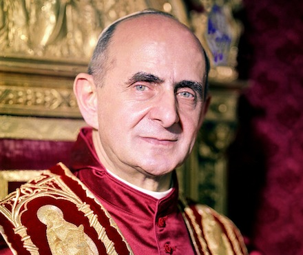 Pope Paul VI seen in undated official portrait